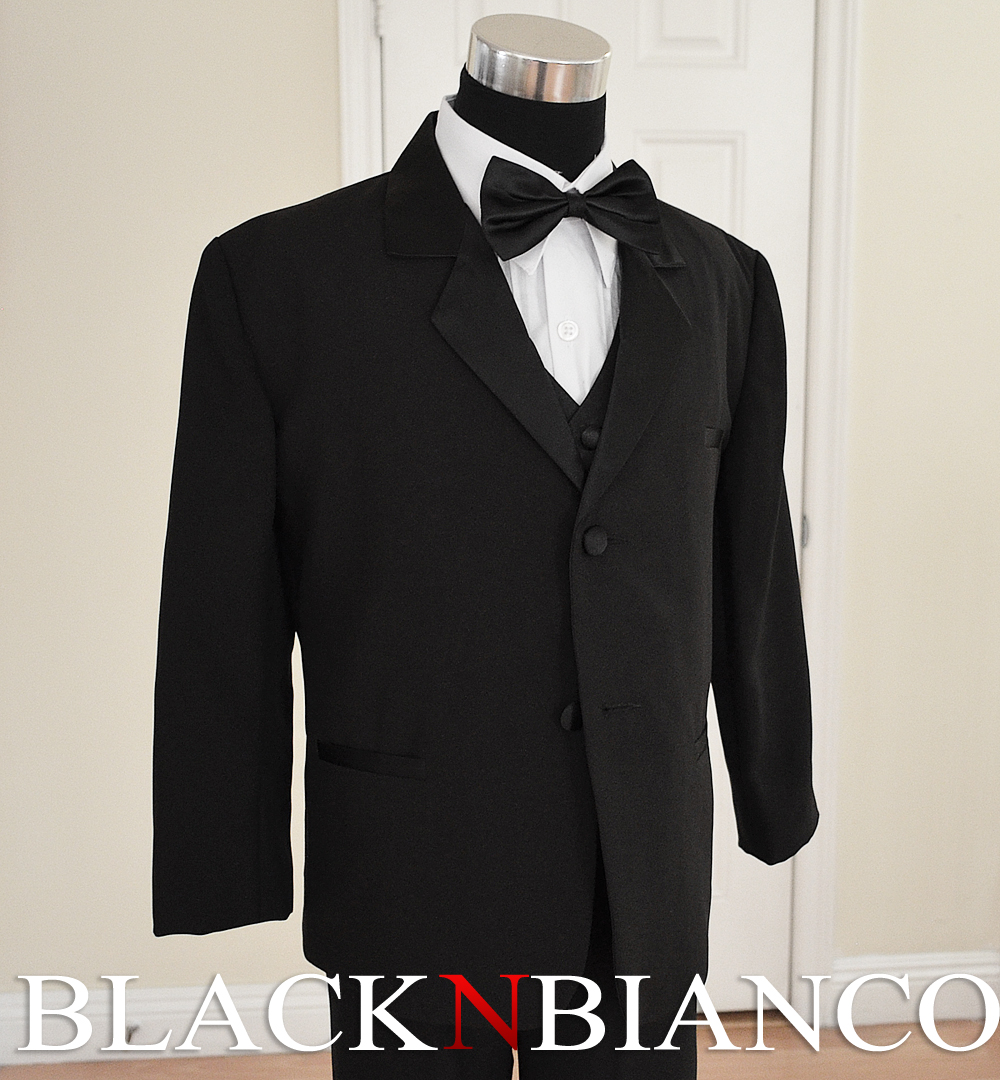 Black N Bianco Ring Bearer Tuxedo for Kids in Black with a Red and Black Bow Tie. Sold by House Bianco. $ - $ Black N Bianco Boys Tuxedo Suit with a Black Long Neck Tie and Bow Tie. Sold by House Bianco. $ Black N Bianco Boys Tuxedo in black dresswear set size 2T 3T 4T.