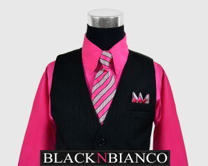 Boys Suits Vest Fuchsia