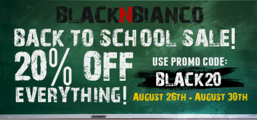 BLACK N BIANCO 20% off back to school