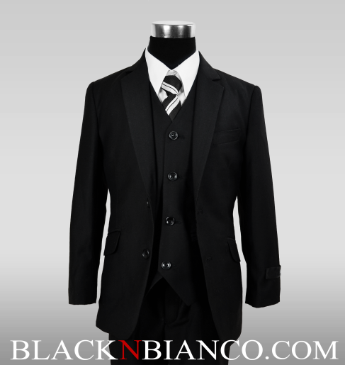 Boys Suits in black slim fit