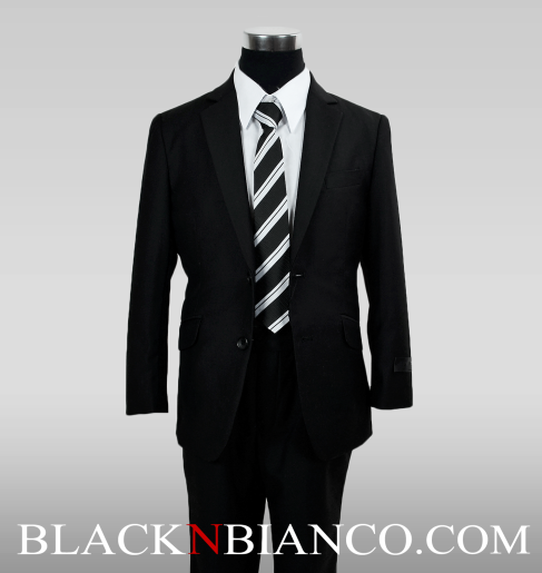 Modern Boys Suits Slim fit Black N Bianco