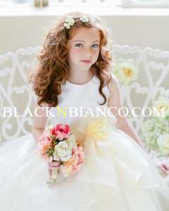 Banana colored Flower Girl Dress