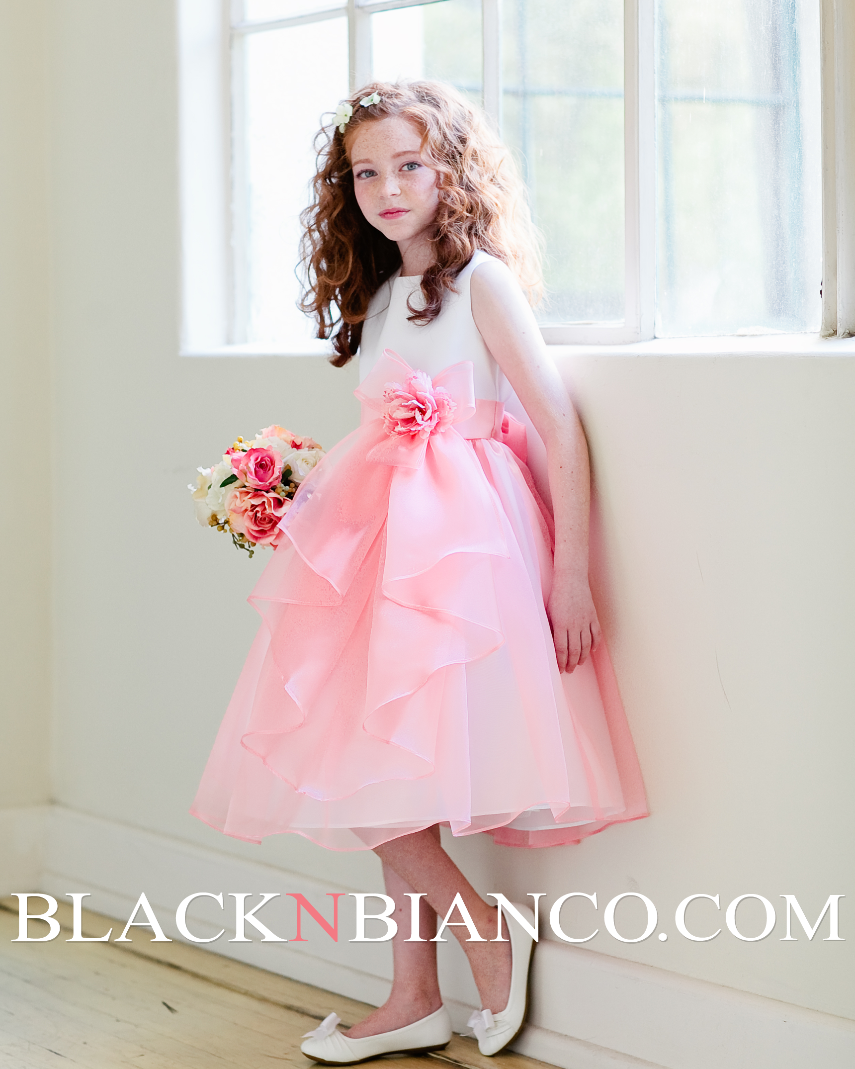 Light Pink Flower Girl Dresses Sanmaz Kones