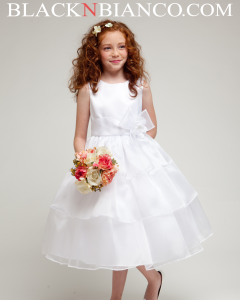 Dresses for girl in white.