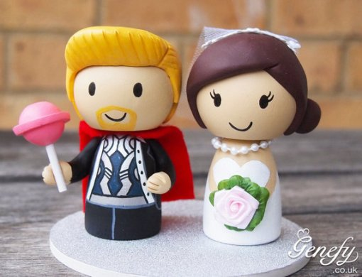 Superhero wedding topper