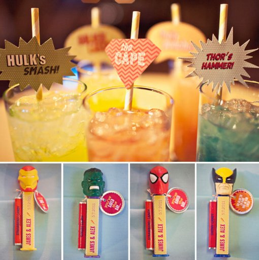 Superhero drinks mixer