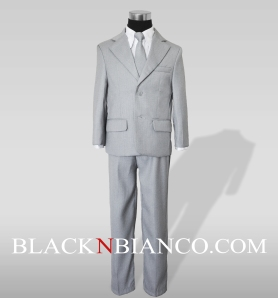 Boys Light Gray Suit by BlacknBianco