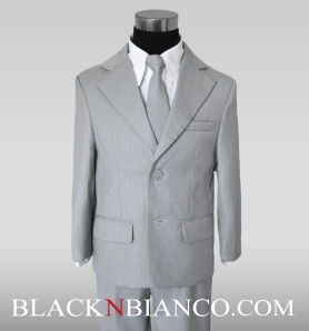 Boys Suits in Gray By Black n Bianco