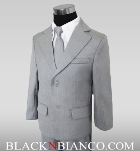 Boys Gray Suits Modern Fit