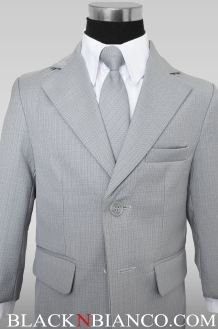 Boys Gray Suits closeup shot