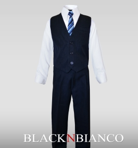 Boys Navy Vest Suit
