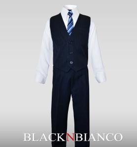 Boys Navy Vest Suit