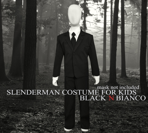 Slenderman Costume for Kids by Black N Bianco