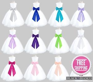 Adorable White Tulle Flower Girl Dresses