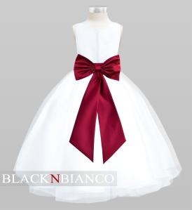 Flower Girl Dress Burgundy Dress