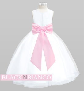 Baby Pink Bow Flower Girl Dress