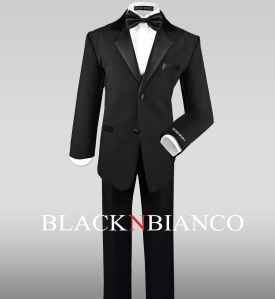 Boys Suit in Black