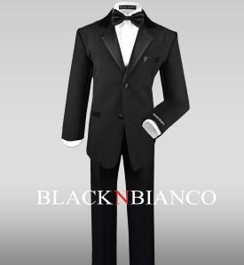 Boys Suit in Black