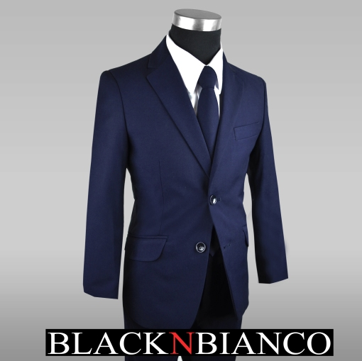 Boys Navy Suit in Slim
