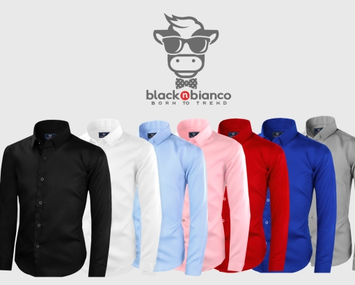 Black n Bianco Modern Dress Shirt for Kids