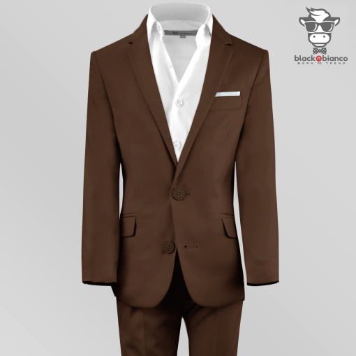 Boys Brown Suits, Boys Slim Fit Suit in Brown, Boys Suit